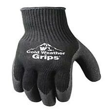 2 Pair Cold Weather Work Gloves Large Latex Coated Winter Weight Knit Grip 256L