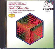 Carlo Maria GIULINI: BRAHMS Symphony No.1 SCHUMANN Manfred DG CD Los Angeles PO