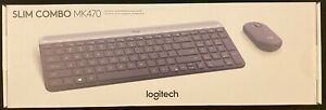 Logitech MK470 Slim Wireless Mouse and Keyboard Combo Black/Gray Free Shipping!