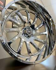 4 New 22X12 Hardcore Hc15 Wheels Chrome 6x5.5 6x139.7 Chevy Gmc