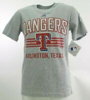 Texas Rangers Official MLB Majestic Apparel Kids Youth Size T-Shirt New Tags