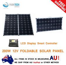 12v 200w Folding Solar Panel Kit Mono Caravan Boat Camping Power Battery