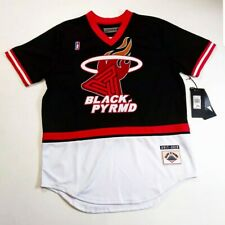 black pyramid men 100% authentic short sleeve jersey black rare new 1of1 heat