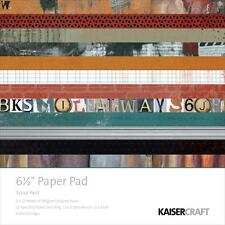 Scrap Yard Collection 6.5 Inch Paper Pad 24 Sheet Kaisercraft PP969 New