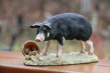 Rare Lowell Davis Wilbur Pig Figurine Schmid Scotland 1980 statue apples Border