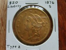 1876s $20 Dollar Liberty Gold Piece - Gold Double Eagle - Us Coins ✅