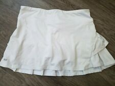 Ducsport Womens Ruffled Athletic Skirt Shorts Skort White Tennis Racquetball SM