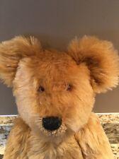 Mint Jointed Handmade Faux Fur Stuffed Animal Teddy Bear 2005 Glass Eyes Signed