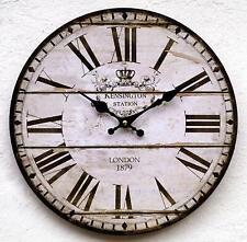 Wanduhr Küchenuhr antik Design modern Shabby Vintage Uhr ohne Ticken lautlos K