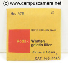 "Kodak 2 x 2"" #47B Blue Optical Wratten Filter 50mm x 50mm for B&W & Color Film"