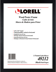 Wide Frame Wall 18 x 24 Black NEW