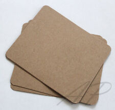 50pc Blank Hair Clip Display Card  Brown Kraft Paper Accessory No Hanging Hole