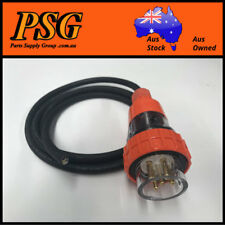 32 Amp 2m appliance Mains Lead, 3 Phase, 5 pin, 415V, 2mt, Plug and H07 Cable