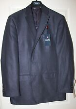 NWT Men's CHAPS 2-Button Suede Sportcoat/Blazer Navy Small Checkered - 48 Reg