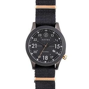Electric California Watch FW01 NATO - All Black / Copper Ex Shop Display NIB