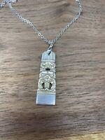 "VINTAGE SPOON/ FORK 18"" NECKLACE 1936 CORONATION Oneida Silverware Jewelry"