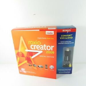 Roxio Creator 2009 Special Edition Convert VHS to DVD Adapter Software