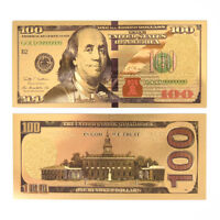 USA Gold Plated Banknotes Paper Money Non Currency Collection Gifts Hot#*sh