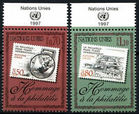 United Nations Geneva 1997 SG#322-3 Tribute To Philately MNH Set #D50104