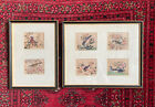 6 Antique C19th Chinese Rice Paper Pith Paintings Of Exotic Birds