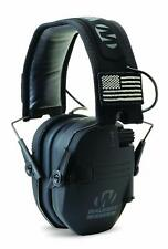 Walkers Razor Slim Electronic Ear Muffs with NRR 23 dB, Black Patriot