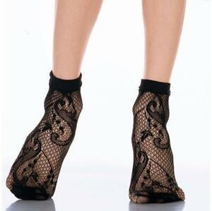 Veneziana Paisley Net Ankle Socks Size 4-7