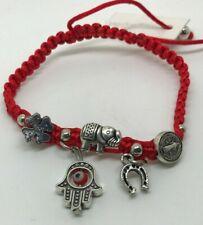Hamsa elephant horseshoe Evil Eye good luck Kabbalah Protection Red Bracelet