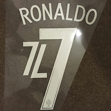 PORTUGAL RONALDO FOOTBALL SHIRT NAME NUMBER PRINT SET HEAT TRANSFER 2016 EURO