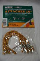 World Famous #2110 shock cords 10 inches ( 4 per package ) orange (store#bte25)