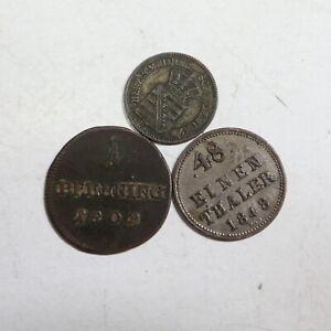 3 Kleinmünzen Altdeutschland                                         44/44