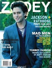 JACKSON RATHBONE VICTORIA JUSTICE ZOOEY MAGAZINE DUAL COVER 2010