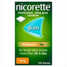 Nicorette Fruitfusion Nicotine Gum 4mg X 105