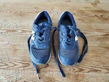 New Balance kids boy size 12 blue navy leather lace tennis shoes