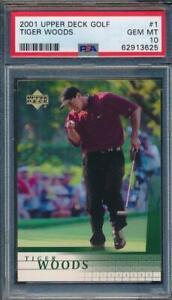 2001 Upper Deck Golf Tiger Woods #1 PSA 10 e10