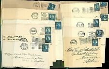 More details for usa 1923/9 bundle of 5c roosevelt covers with different postmarks all to au used