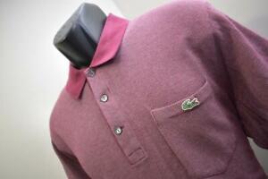 Lacoste Alligator Golf Polo Dark Red Short Sleeve Shirt Mens Size Eur 6 Large