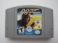 007 The World Is Not Enough Nintendo 64 N64 James Bond Grey Cart Video Game GOOD