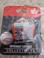 """2009 Brian Wilson SF Giants """"Wilson Closing With Heat"""" Pin Sporting Green - NEW"""