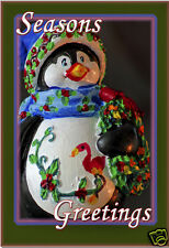 "Season Greeting Penguin Fridge Magnet 3.25""x2.25"" Collectibles (PMD11012)"