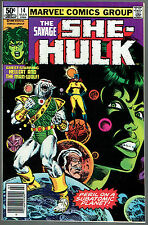 SAVAGE SHE-HULK  14  NM+/9.6  -  Guest-starring Hellcat AND Man-Wolf!