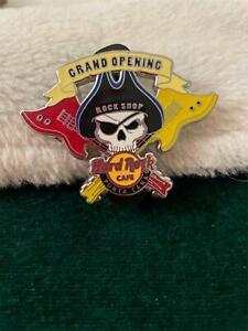 Hard Rock Cafe Pin Punta Cana Rock Shop Grand Opening Pirate Skull in Black Hat