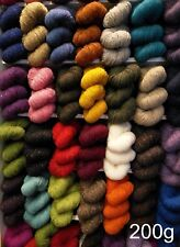 200g Irish Aran Tweed Knitting Yarn Genuine Donegal 100%Wool : 30 Colours! 320 m
