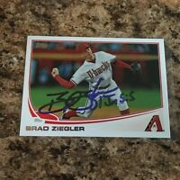 Brad Ziegler Signed 2013 Topps Autograph Arizona Diamondbacks
