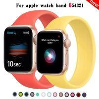 Elastic Bracelet Loop fr Apple Watch band iWatch 6 5 4 3 SE Sport Silicone Strap