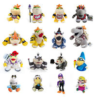 Super Mario Bros. Bowser's Castle Bowser Morton JR Koopa Plush Doll Toy 5-14''