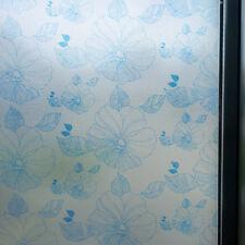 Dépoli décoratives film de fenêtre petites fleurs bleues 90 cm x 1m Rouleau wt045