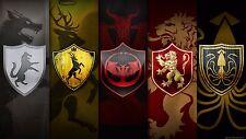 Poster 42x24 cm Juego de Tronos Estandartes Familias / Families Game Of Thrones