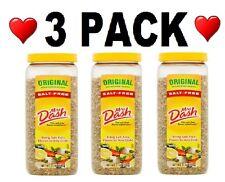 💗 3 PACK Mrs Dash Original Salt-Free Seasoning Blend 21 oz. Each Shaker Healthy