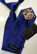 "Paul Smith COBALT BLUE SILK TIE ""MAINLINE"" Classic 100% Silk Made in ITALY"