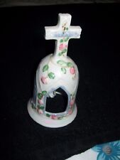 Collectible ceramic cross handle bell